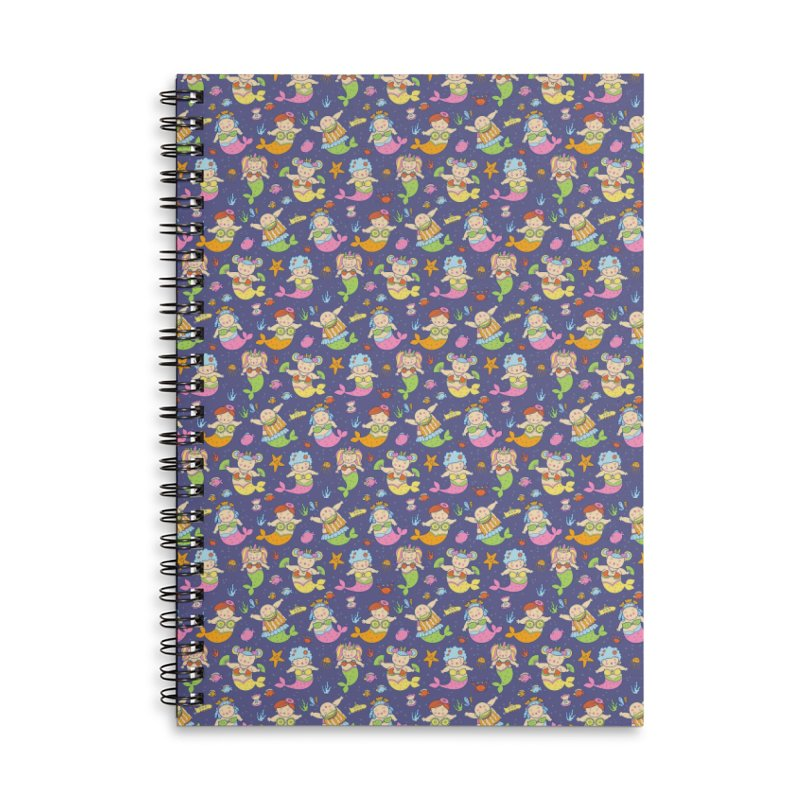 Mermaid Squad Accessories Lined Spiral Notebook by godzillarge's Artist Shop