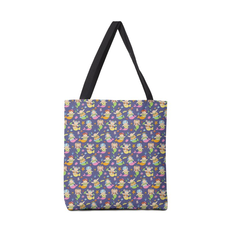 Mermaid Squad Accessories Tote Bag Bag by godzillarge's Artist Shop