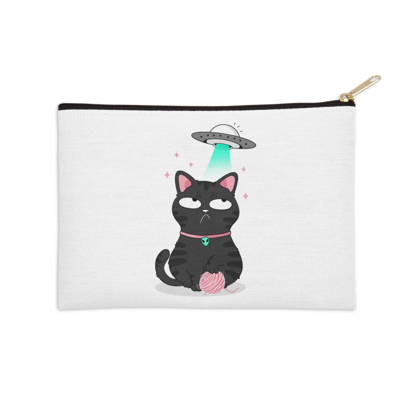 Leave Meow Alone Accessories Zip Pouch by godzillarge's Artist Shop