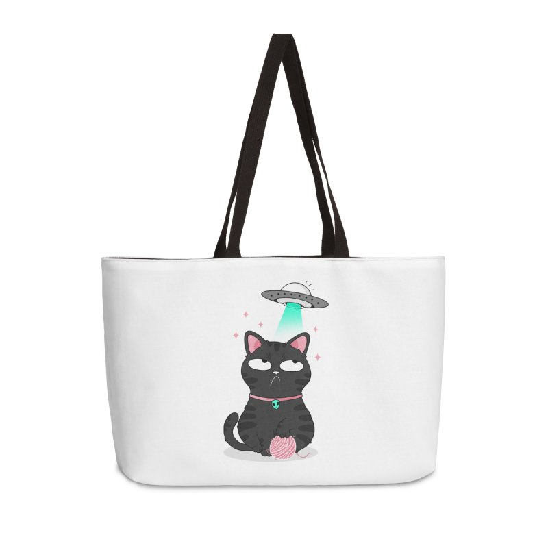 Leave Meow Alone Accessories Weekender Bag Bag by godzillarge's Artist Shop