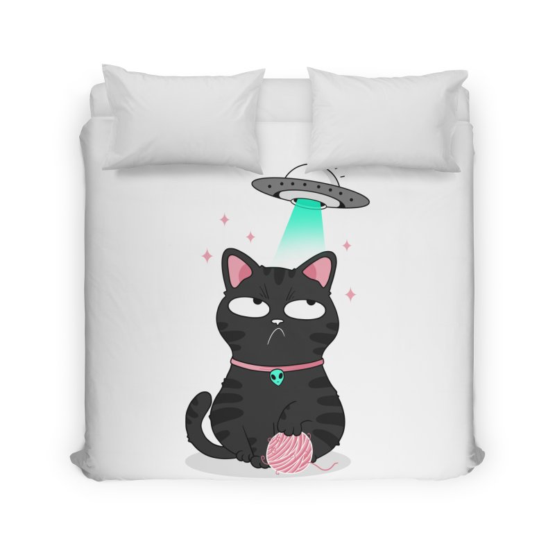 Leave Meow Alone Home Duvet by godzillarge's Artist Shop