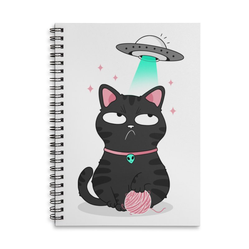 Leave Meow Alone Accessories Lined Spiral Notebook by godzillarge's Artist Shop