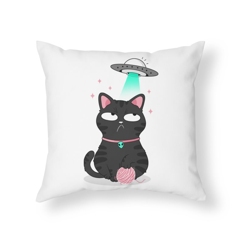 Leave Meow Alone Home Throw Pillow by godzillarge's Artist Shop