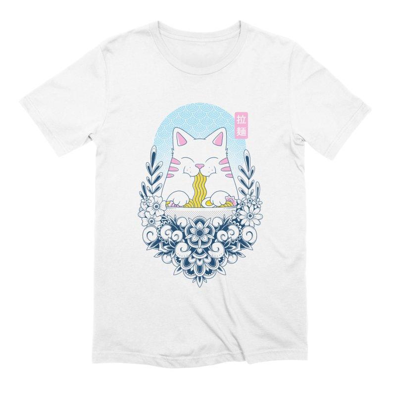 Ramen Cat Men's Extra Soft T-Shirt by godzillarge's Artist Shop