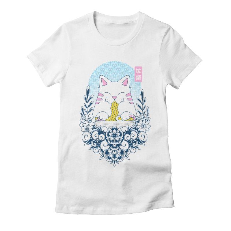 Ramen Cat Women's T-Shirt by godzillarge's Artist Shop