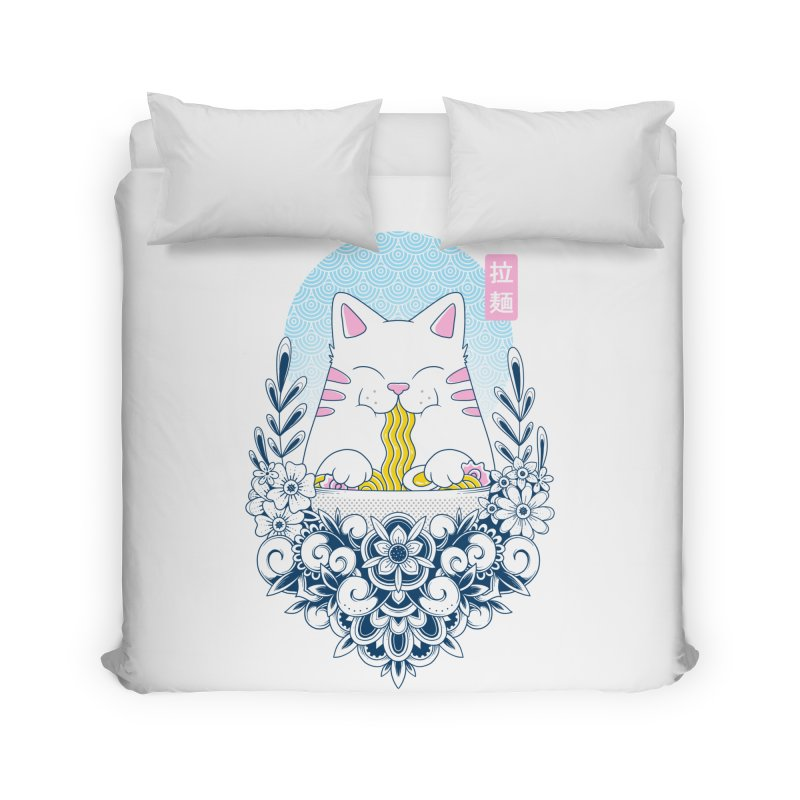 Ramen Cat Home Duvet by godzillarge's Artist Shop