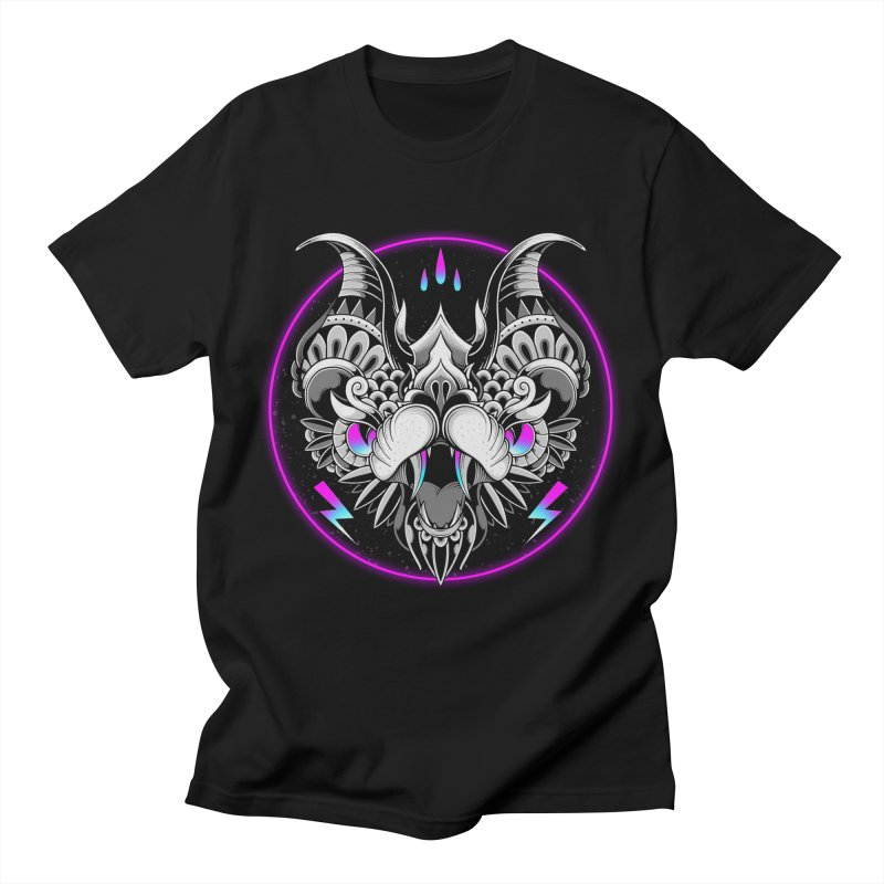 Retrowave Bat Men's T-Shirt by godzillarge's Artist Shop