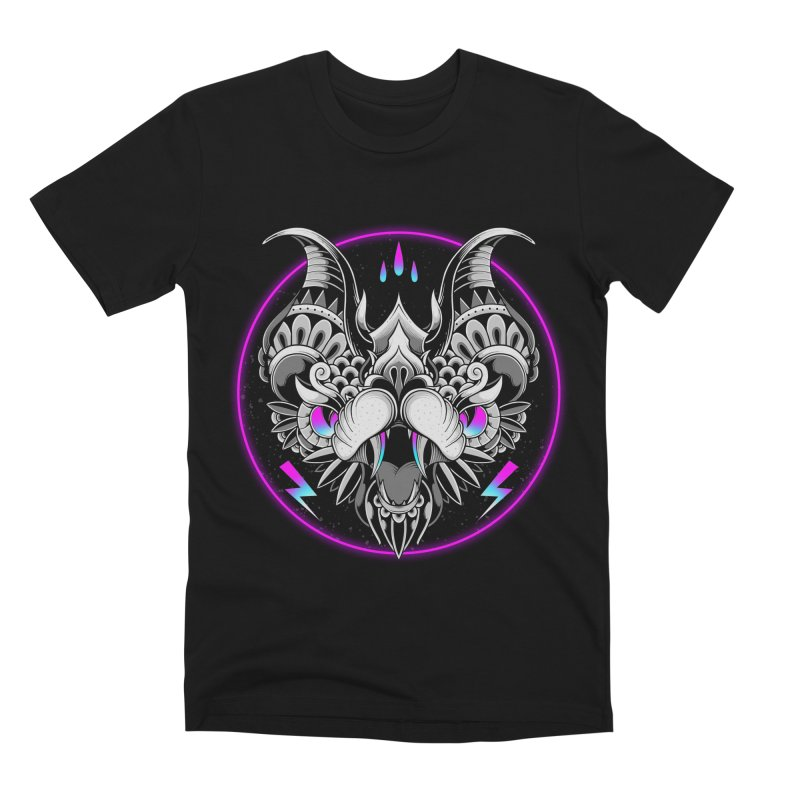 Retrowave Bat Men's T-Shirt by godzillarge's Artist Shop