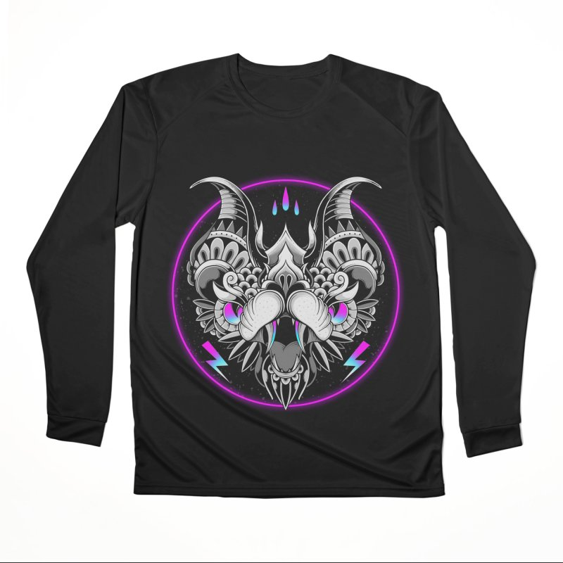 Retrowave Bat Men's Longsleeve T-Shirt by godzillarge's Artist Shop