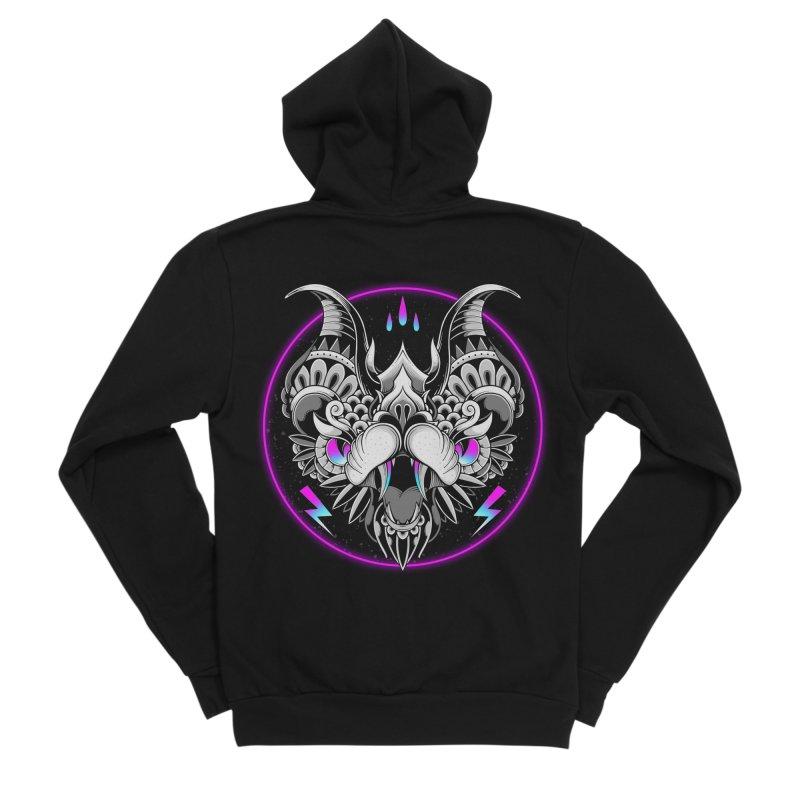 Retrowave Bat Women's Zip-Up Hoody by godzillarge's Artist Shop