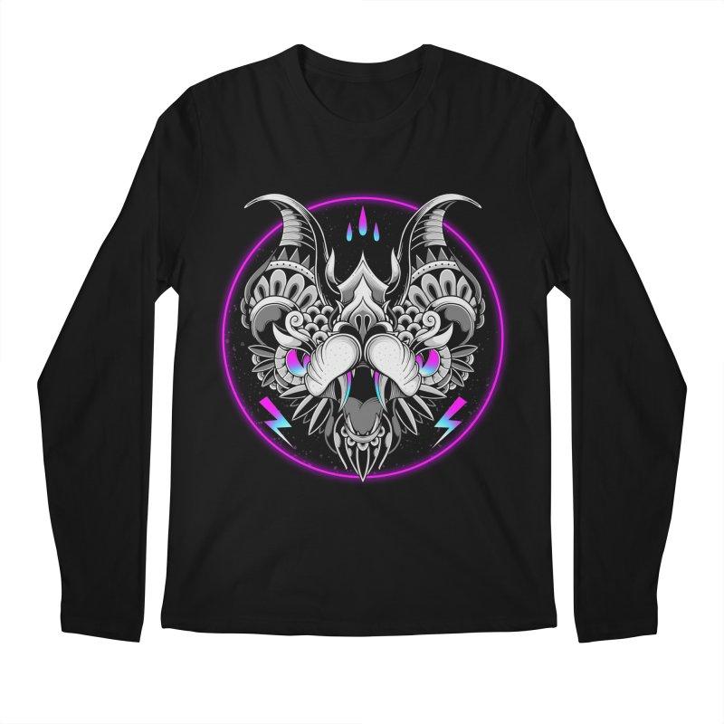 Retrowave Bat Men's Longsleeve T-Shirt by godzillarge's Artist Shop