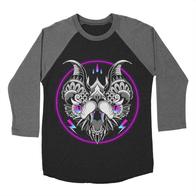 Retrowave Bat Men's Baseball Triblend Longsleeve T-Shirt by godzillarge's Artist Shop