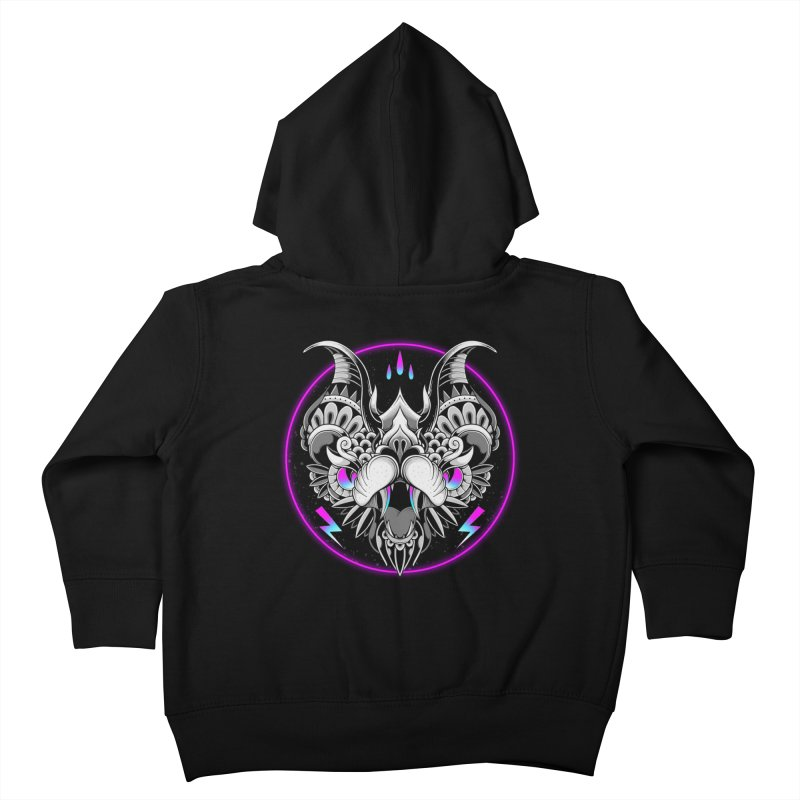Retrowave Bat Kids Toddler Zip-Up Hoody by godzillarge's Artist Shop