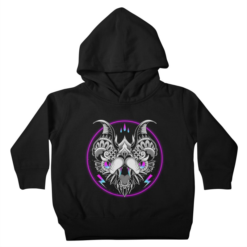 Retrowave Bat Kids Toddler Pullover Hoody by godzillarge's Artist Shop