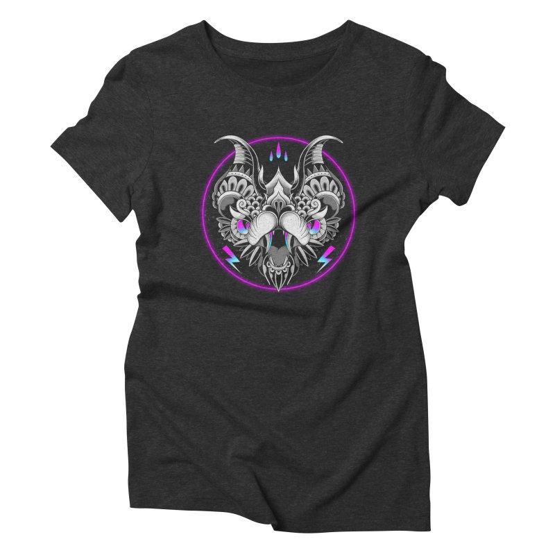 Retrowave Bat Women's T-Shirt by godzillarge's Artist Shop