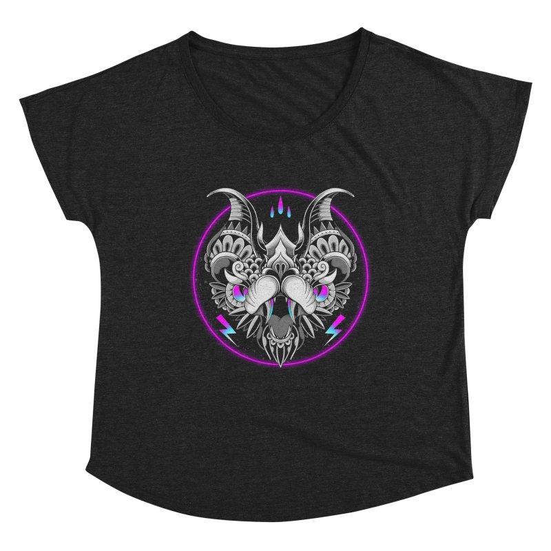 Retrowave Bat Women's Scoop Neck by godzillarge's Artist Shop