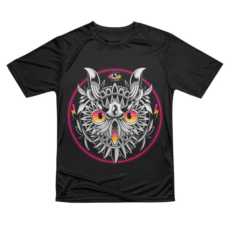 Retrowave Owl Men's T-Shirt by godzillarge's Artist Shop
