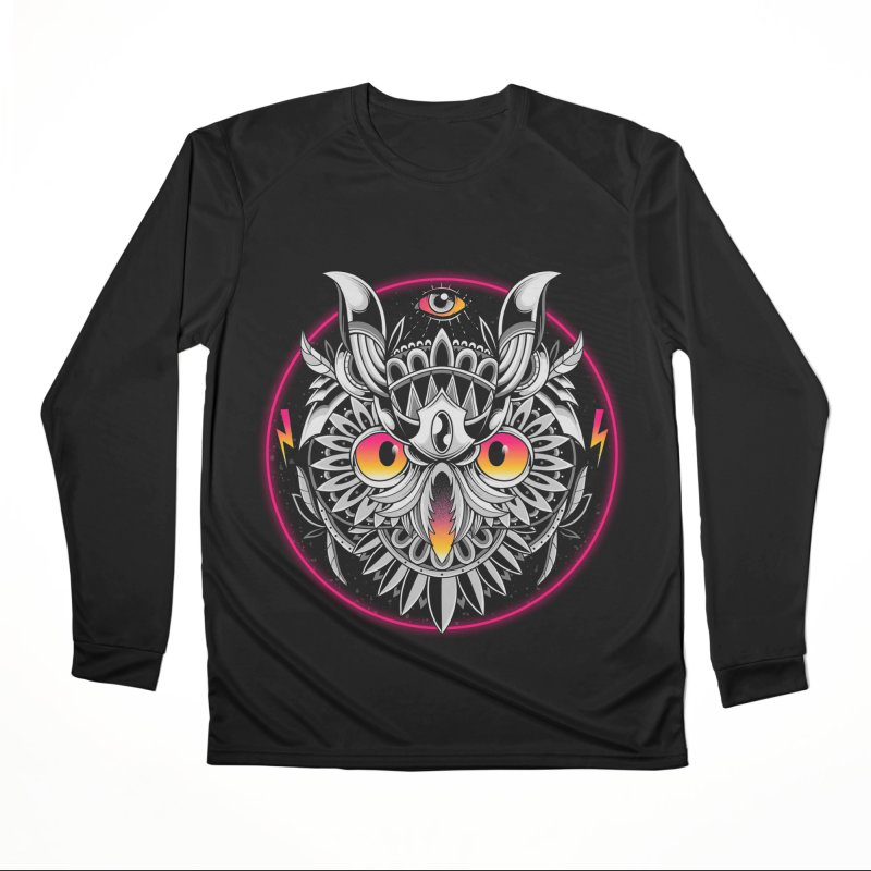 Retrowave Owl Women's Longsleeve T-Shirt by godzillarge's Artist Shop