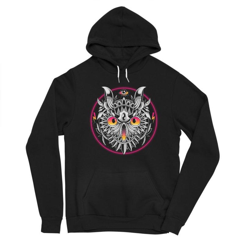 Retrowave Owl Women's Pullover Hoody by godzillarge's Artist Shop