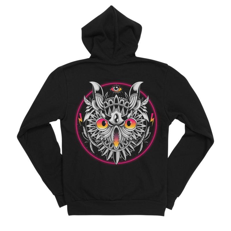 Retrowave Owl Women's Zip-Up Hoody by godzillarge's Artist Shop
