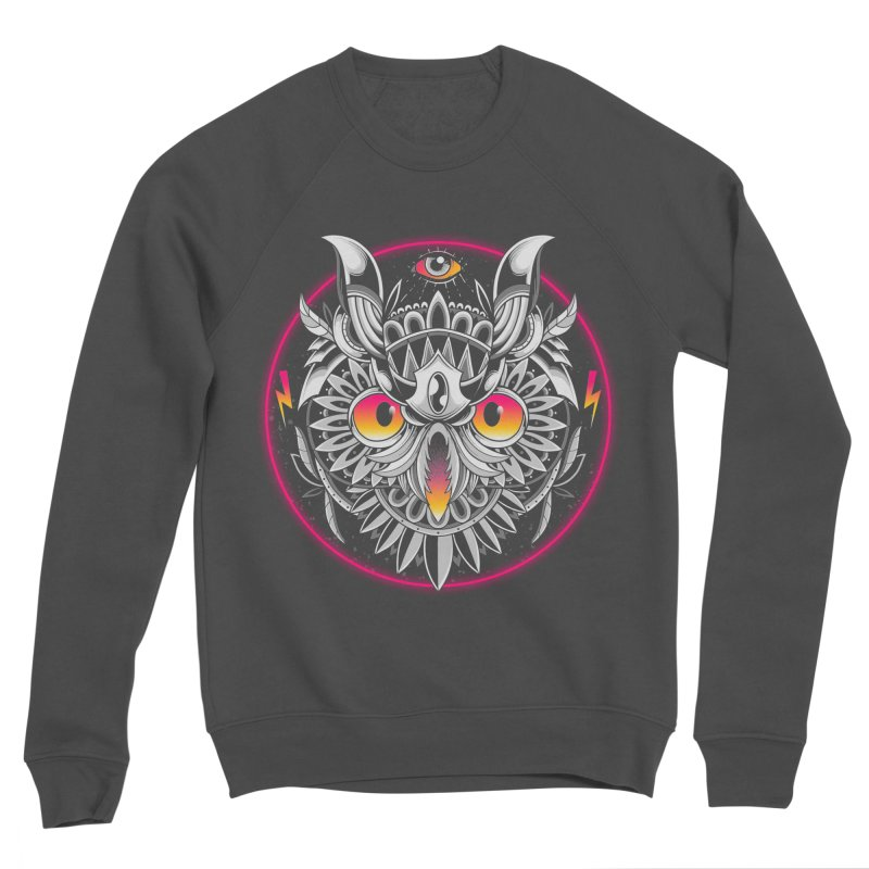 Retrowave Owl Women's Sweatshirt by godzillarge's Artist Shop