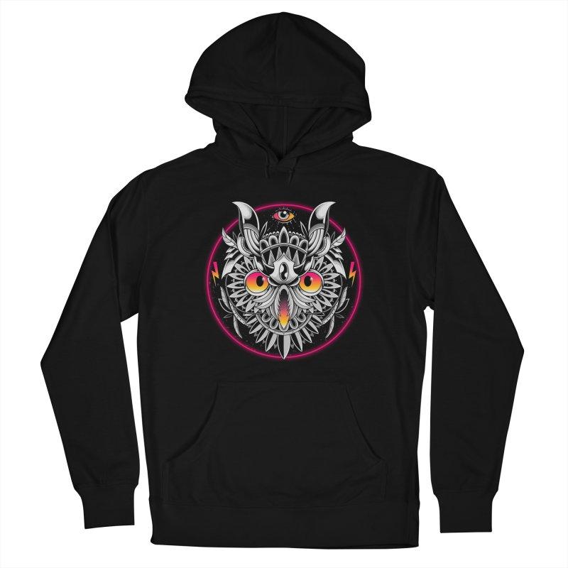 Retrowave Owl Men's Pullover Hoody by godzillarge's Artist Shop