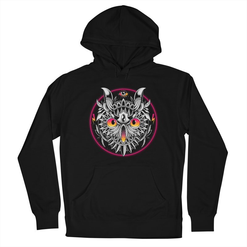 Retrowave Owl Women's Pullover Hoody by godzillarge's Artist Shop