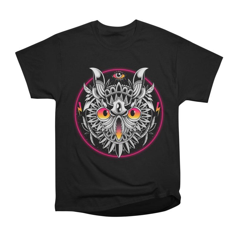 Retrowave Owl Women's T-Shirt by godzillarge's Artist Shop