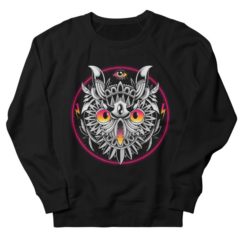 Retrowave Owl Women's Sweatshirt by godzillarge's Artist Shop