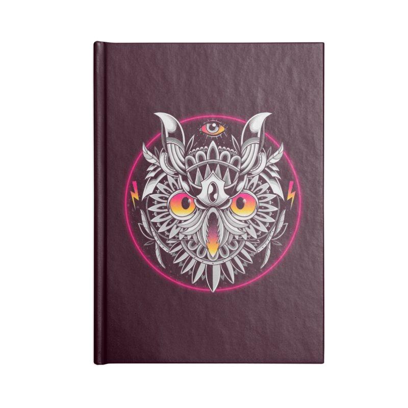 Retrowave Owl Accessories Notebook by godzillarge's Artist Shop