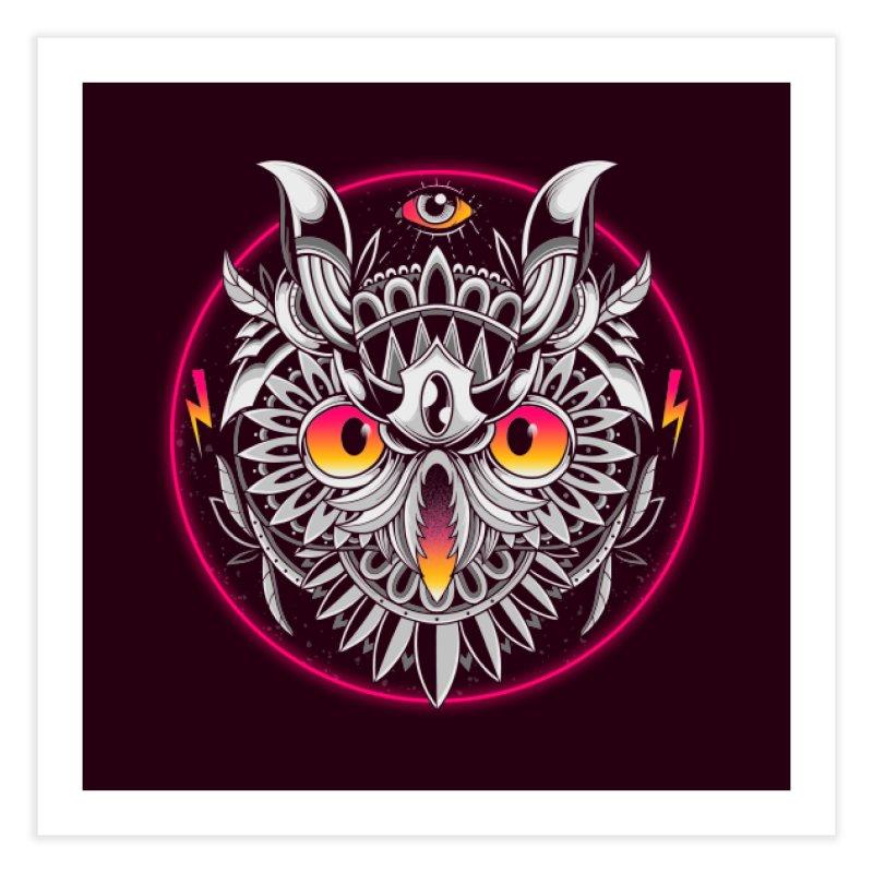 Retrowave Owl Home Fine Art Print by godzillarge's Artist Shop