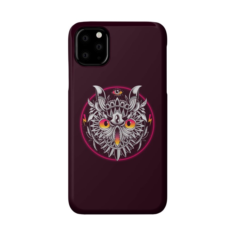 Retrowave Owl Accessories Phone Case by godzillarge's Artist Shop