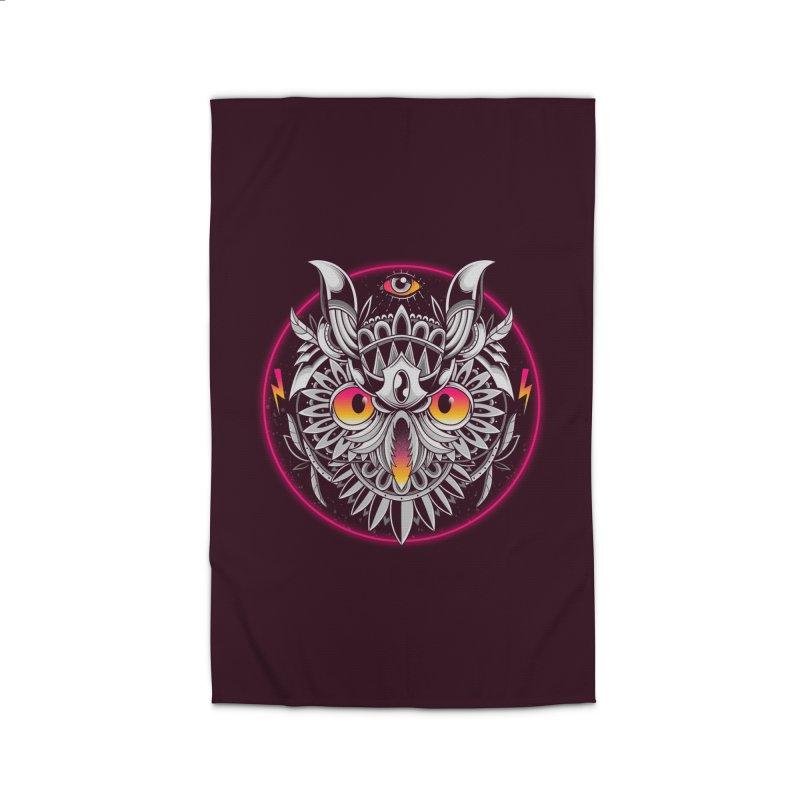 Retrowave Owl Home Rug by godzillarge's Artist Shop