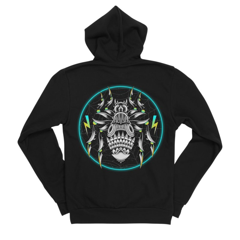 Retrowave Bat Women's Zip-Up Hoody by godzillarge's Artist Shop