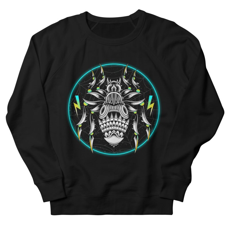 Retrowave Bat Men's French Terry Sweatshirt by godzillarge's Artist Shop