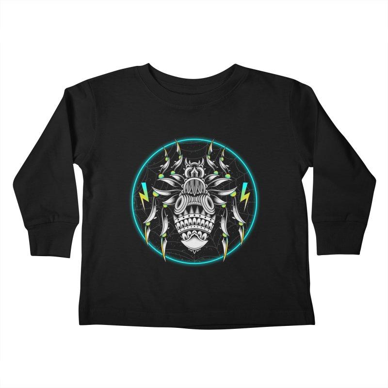 Retrowave Bat Kids Toddler Longsleeve T-Shirt by godzillarge's Artist Shop