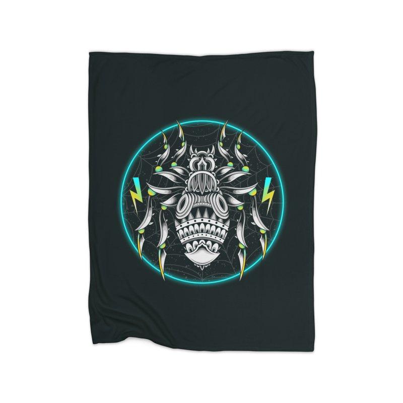 Retrowave Bat Home Blanket by godzillarge's Artist Shop