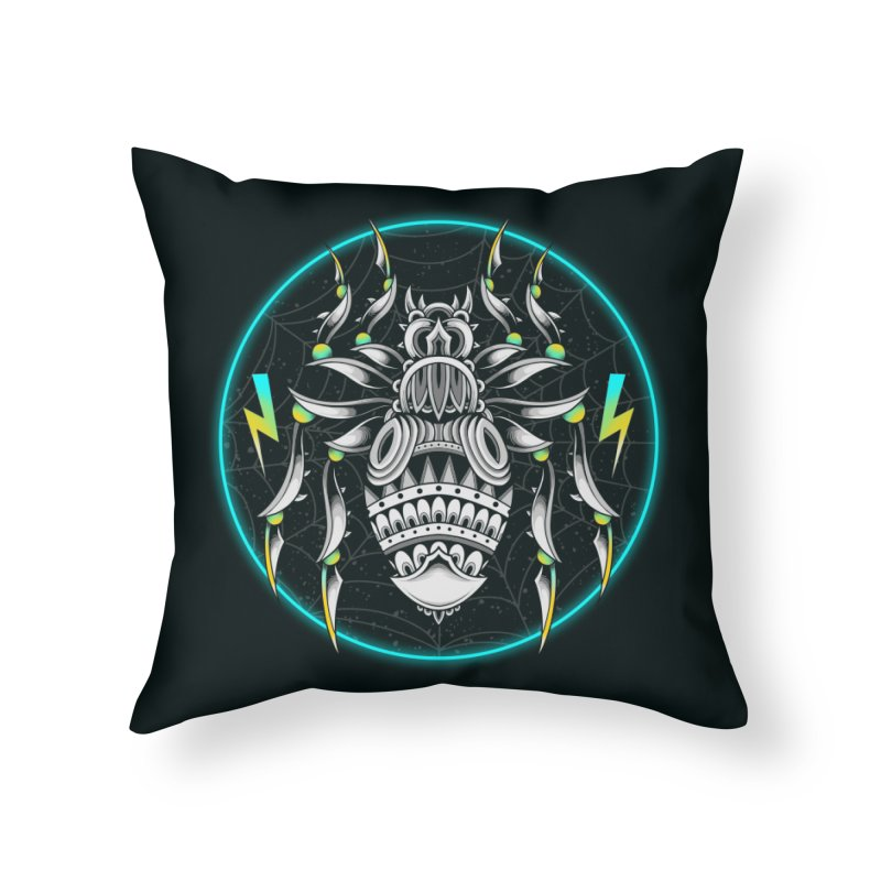 Retrowave Bat Home Throw Pillow by godzillarge's Artist Shop