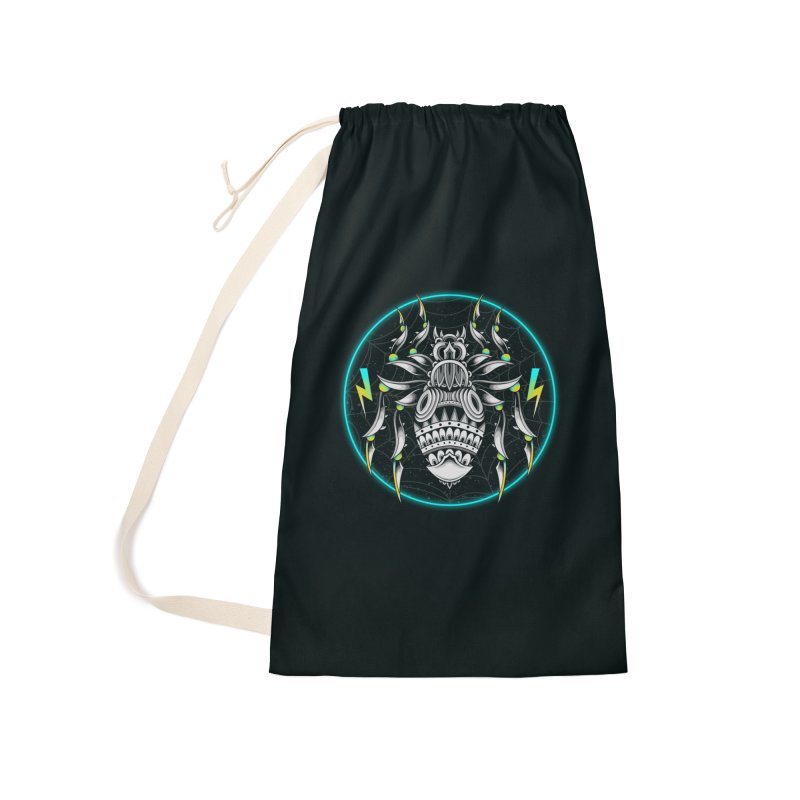 Retrowave Bat Accessories Bag by godzillarge's Artist Shop