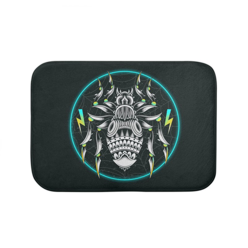 Retrowave Bat Home Bath Mat by godzillarge's Artist Shop