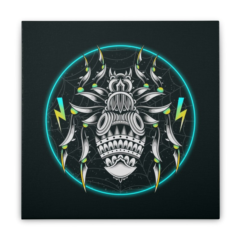 Retrowave Bat Home Stretched Canvas by godzillarge's Artist Shop