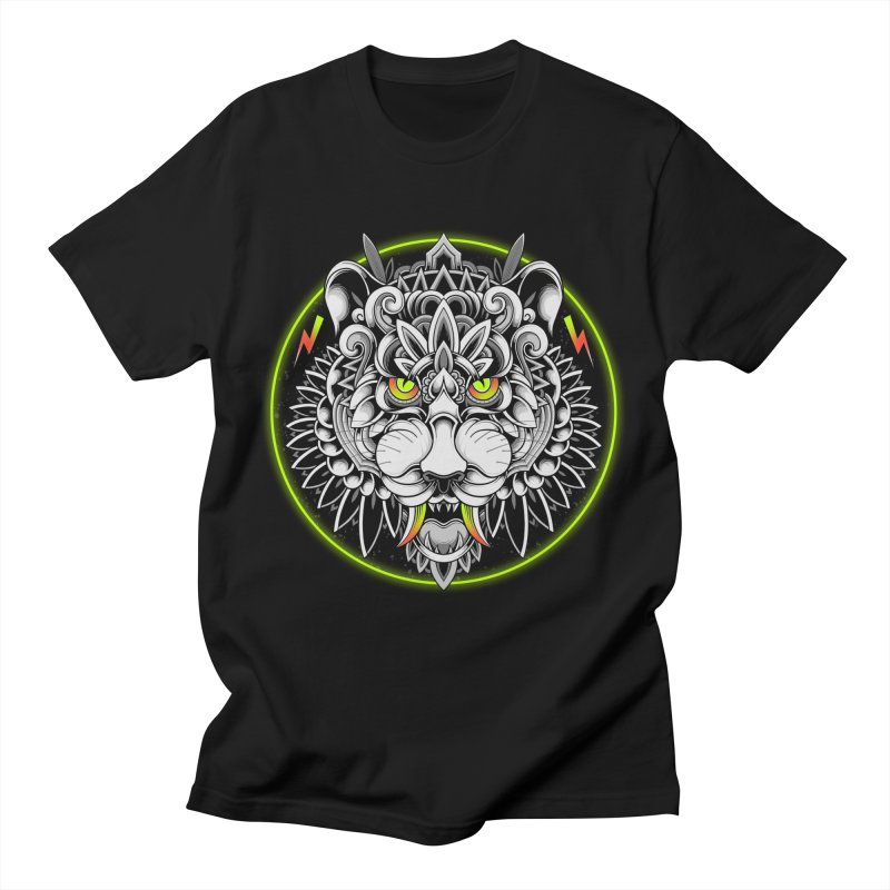 Retrowave Tiger Men's T-Shirt by godzillarge's Artist Shop