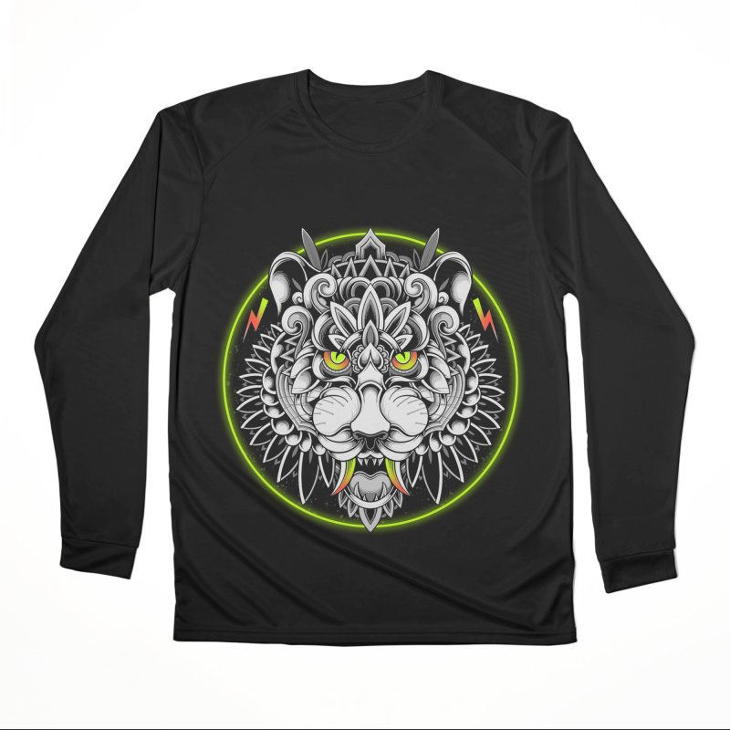Retrowave Tiger Men's Longsleeve T-Shirt by godzillarge's Artist Shop