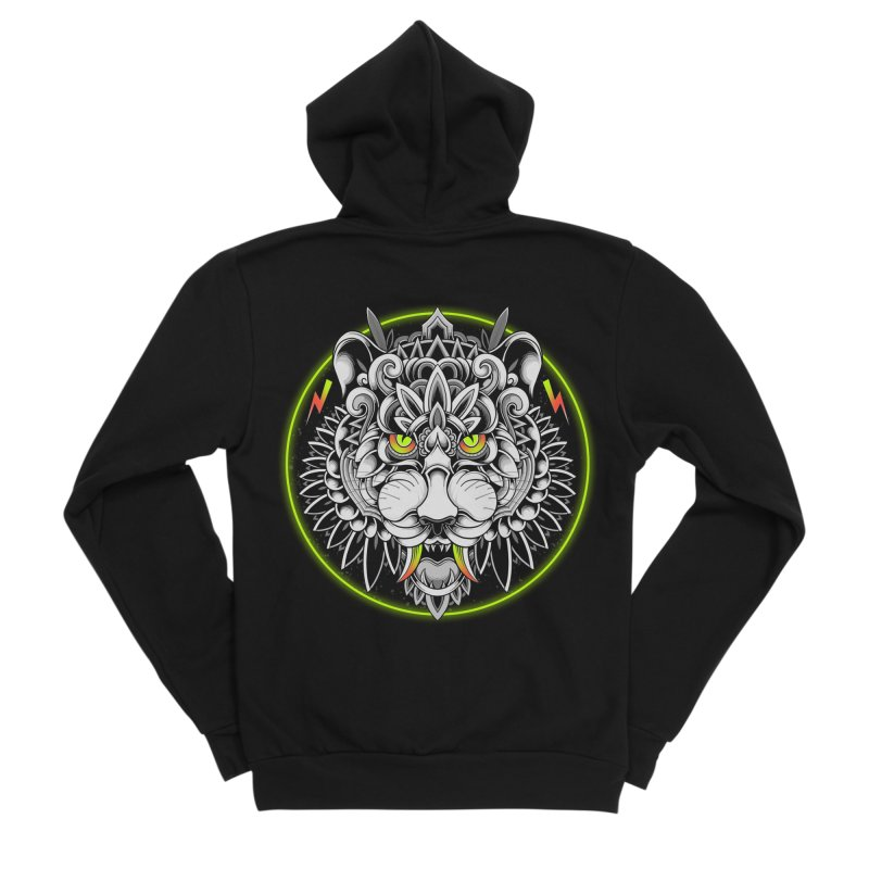 Retrowave Tiger Women's Zip-Up Hoody by godzillarge's Artist Shop