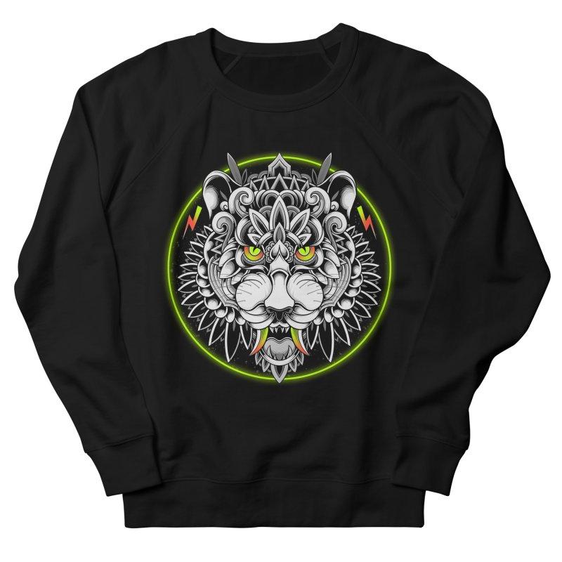 Retrowave Tiger Men's French Terry Sweatshirt by godzillarge's Artist Shop