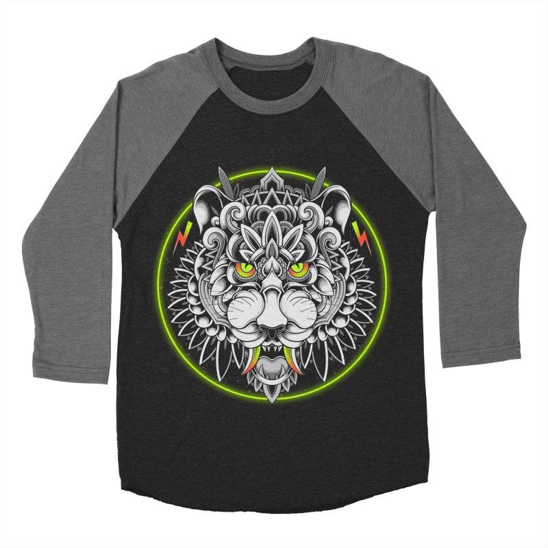 Retrowave Tiger Men's Baseball Triblend Longsleeve T-Shirt by godzillarge's Artist Shop
