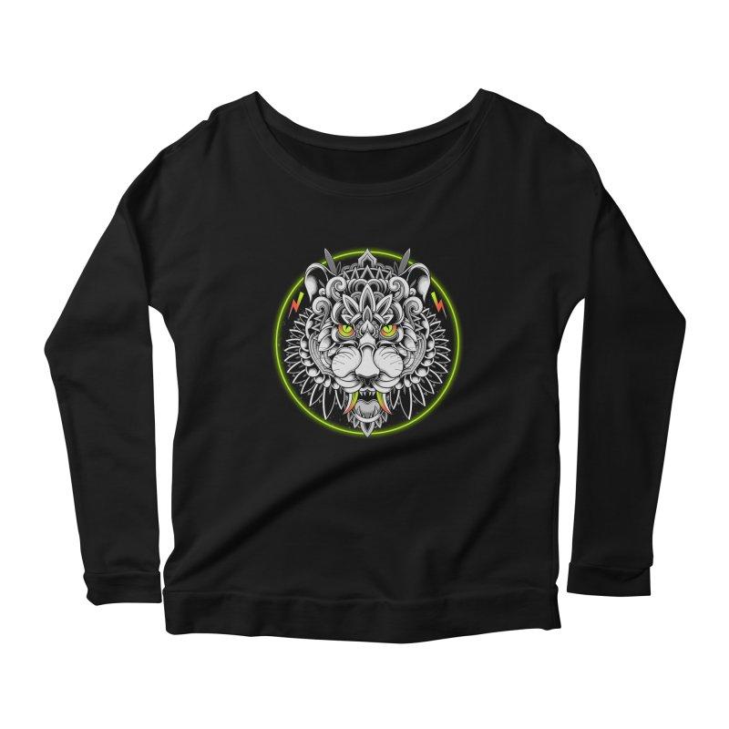 Retrowave Tiger Women's Longsleeve T-Shirt by godzillarge's Artist Shop