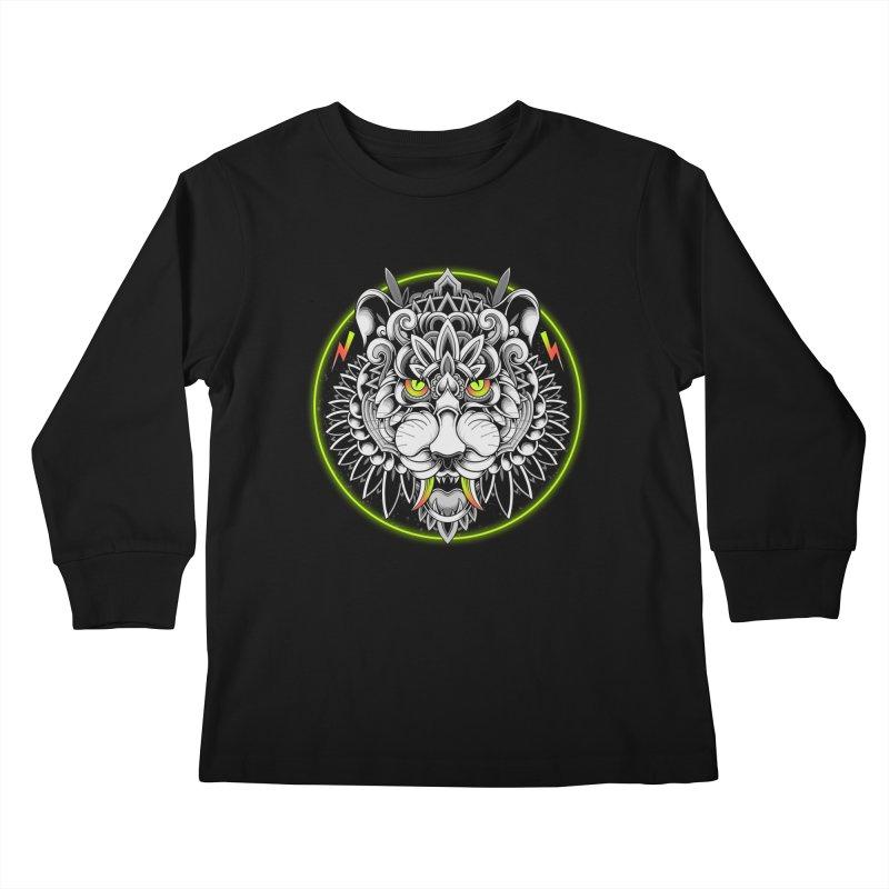 Retrowave Tiger Kids Longsleeve T-Shirt by godzillarge's Artist Shop