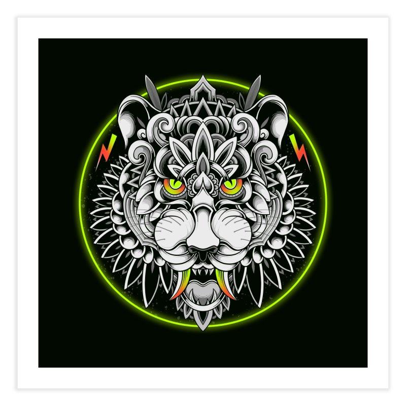 Retrowave Tiger Home Fine Art Print by godzillarge's Artist Shop