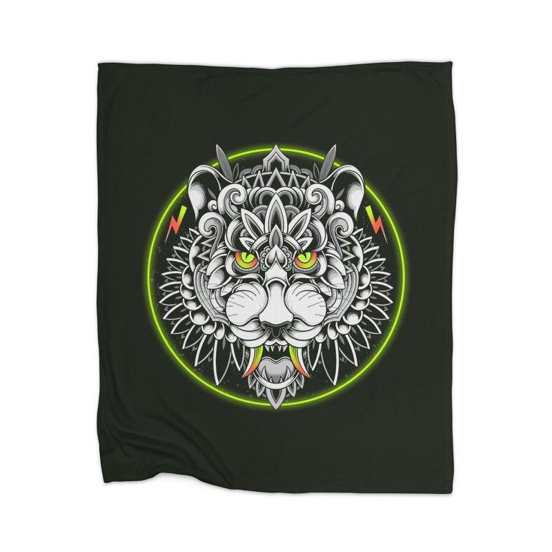 Retrowave Tiger Home Blanket by godzillarge's Artist Shop